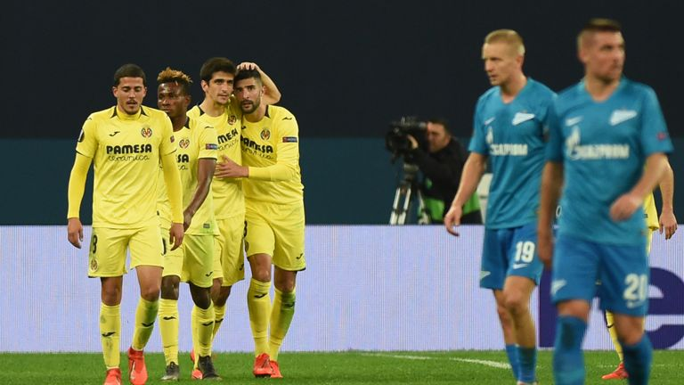 Gerard Moreno inspired Villarreal to victory with their second goal at Zenit