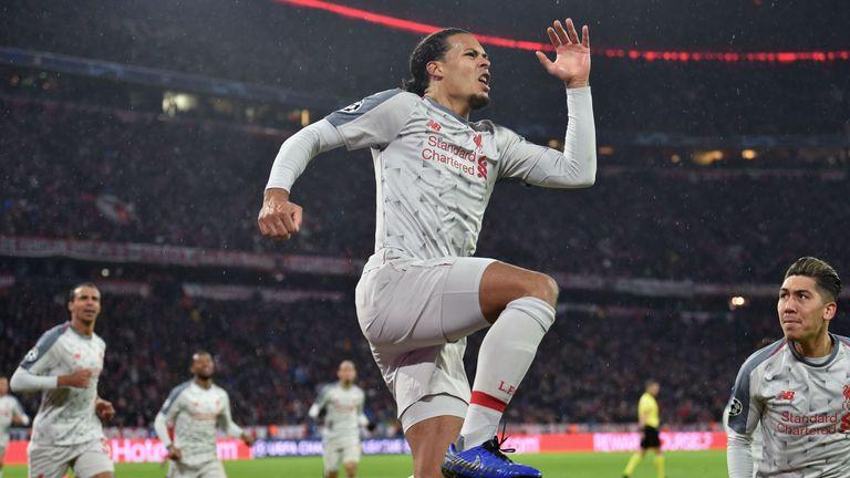 Virgil van Dijk's header put the tie beyond Bayern