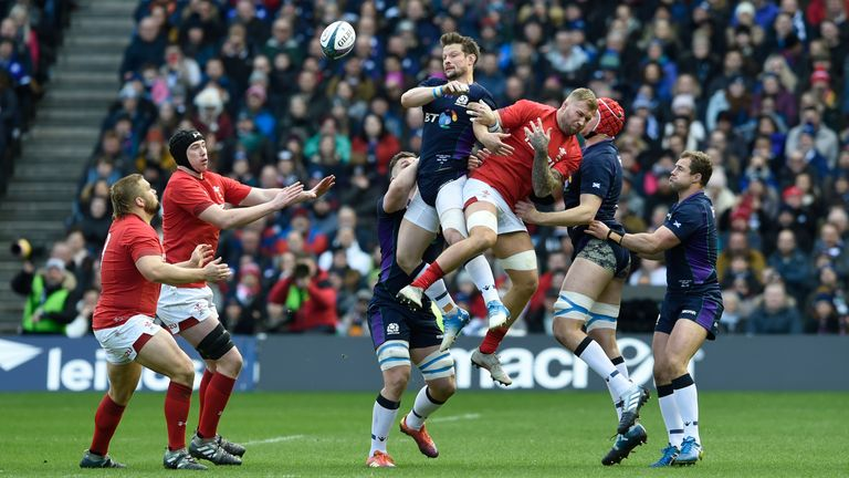 Wales face Scotland in Murrayfield