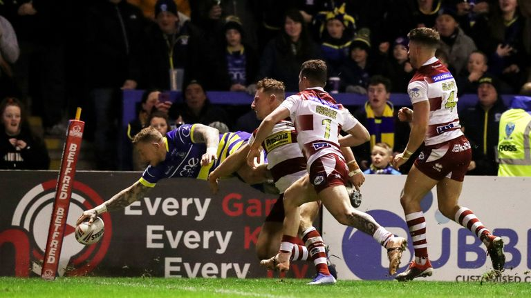 Charnley has scored 40 tries in 51 appearances for Warrington