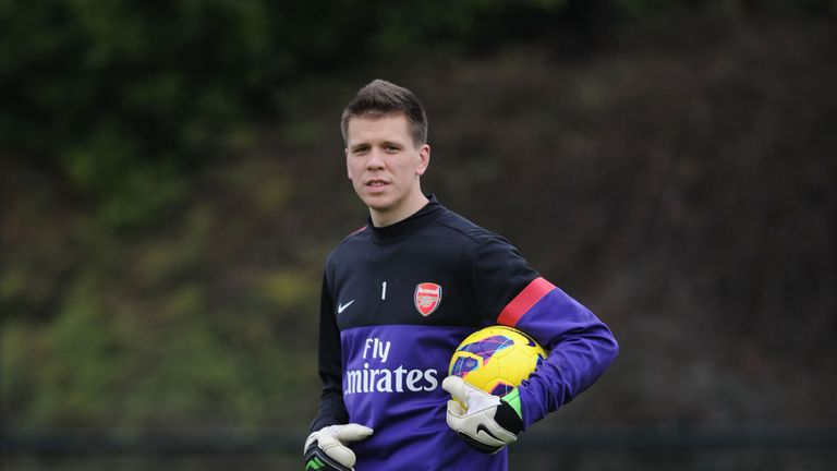 ST ALBANS, ENGLAND - DECEMBER 21: of Arsenal during a training session at London Colney on December 21, 2012 in St Albans, England. (Photo by Stuart MacFarlane/Arsenal FC via Getty Images)