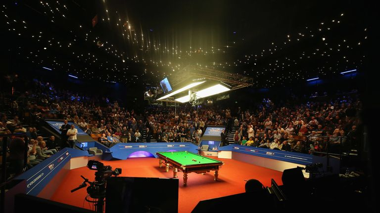 The iconic Crucible Theatre will allow spectators to watch this year's world championship