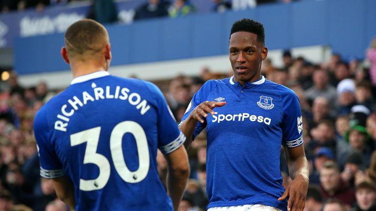 c5a7e6424 Everton s Richarlison celebrates opening the scoring against Chelsea