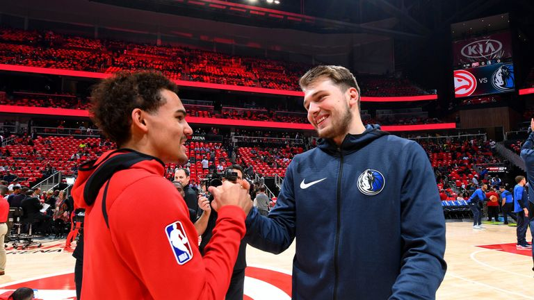Trae Young and Luka Doncic are the leading candidates for the Rookie of the Year award