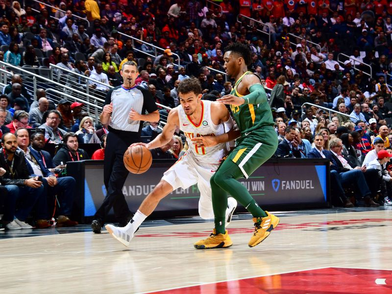 eea4fcd2f Trae Young dupes Ricky Rubio and Rudy Gobert with slick handles in Atlanta  Hawks win over Utah Jazz