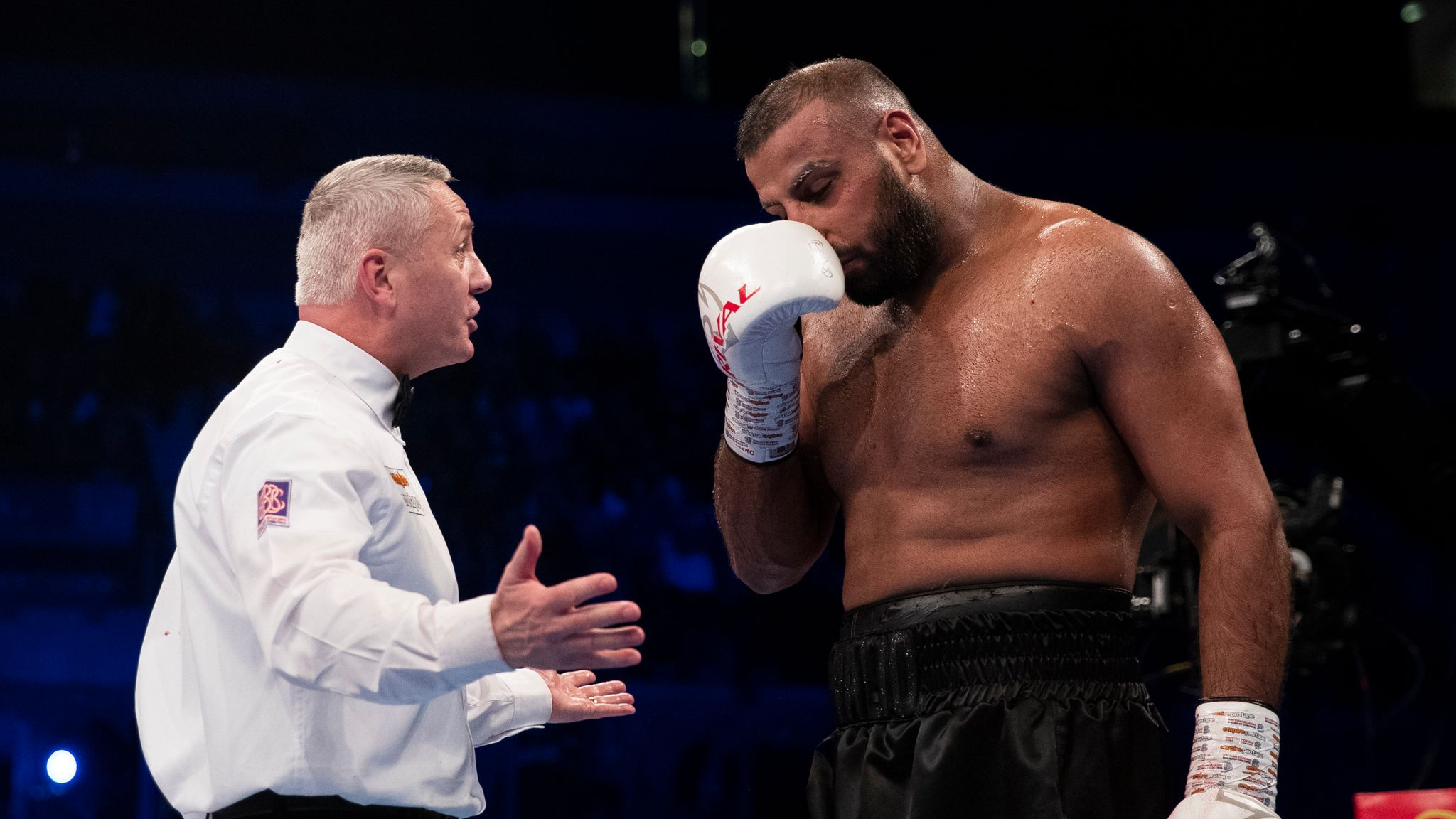 Kash Ali Apologises For Biting David Price In Heavyweight Fight Boxing News Sky Sports