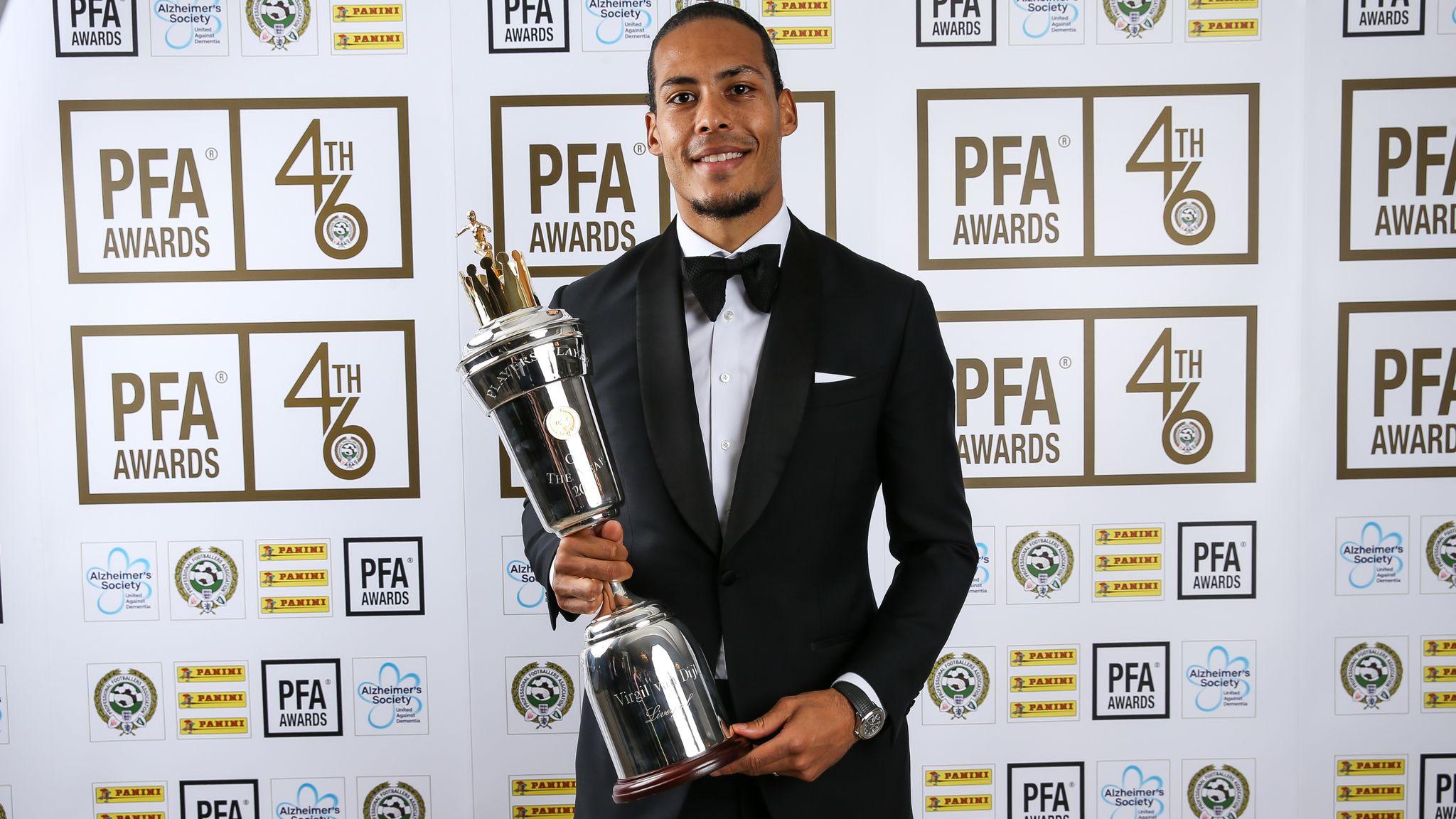 Virgil Van Dijk And Raheem Sterling Win Pfa Player Of The Year Awards Football News Sky Sports
