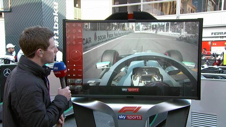 Sky F1's Anthony Davidson examines the battle between Valtteri Bottas and Lewis Hamilton during the Azerbaijan GP