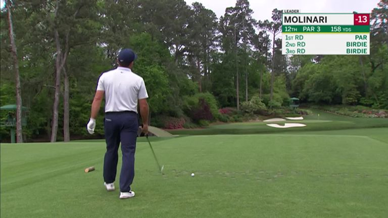 Francesco Molinari found the water twice during the final round at the Masters