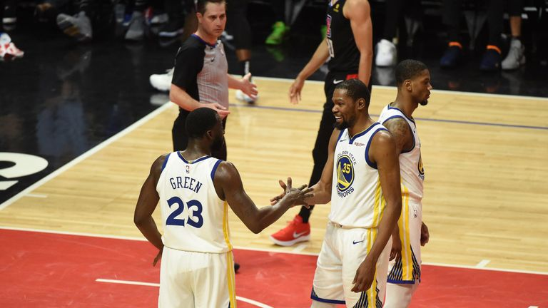 3f0bceb5712 Kevin Durant scores 50 points as Golden State Warriors seal 4-2 series win  over Los Angeles Clippers