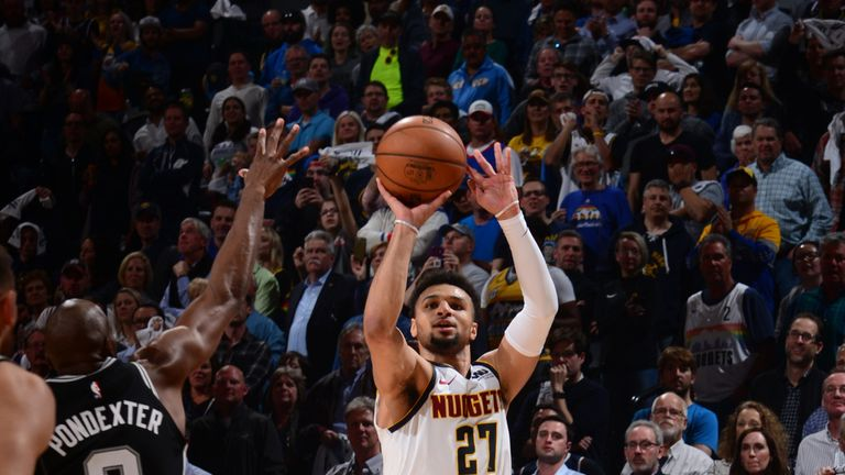 Jamal Murray fires a clutch three to lead the Denver Nuggets to a Game 2 victory over the San Antonio Spurs