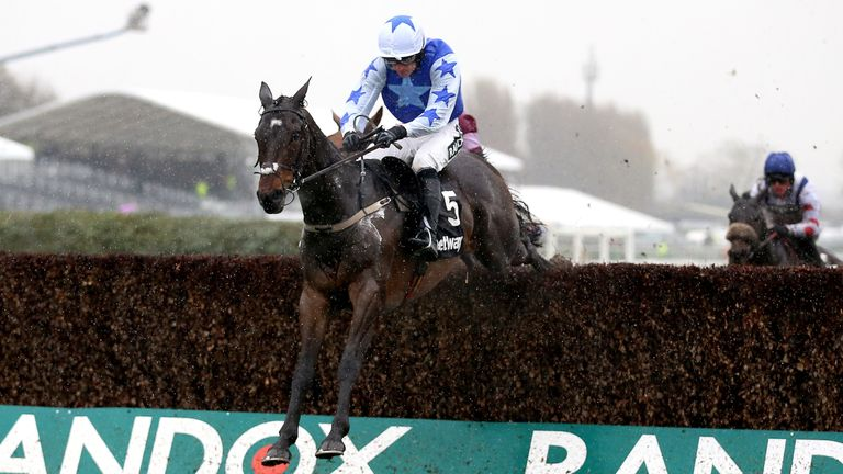Kemboy soars over the last at Aintree