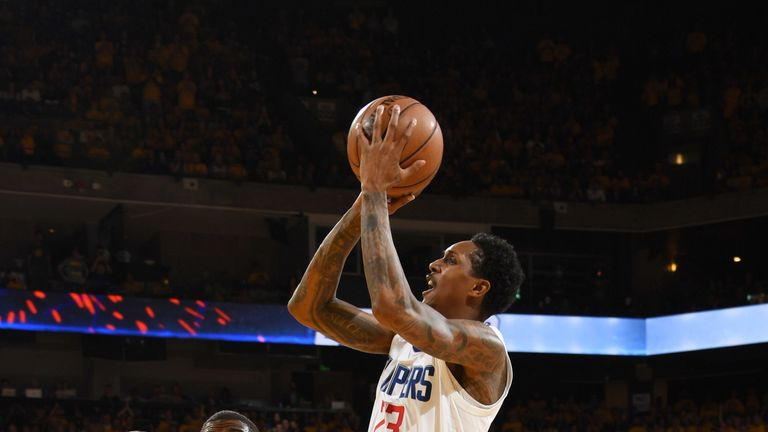 Lou Williams shoots a fadeaway jump shot in Game 5 against Golden State