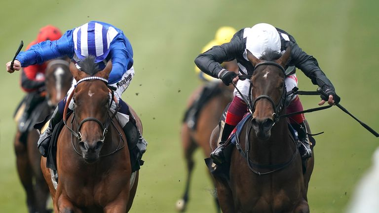 Maqsad (left) gets the better of Twist N Shake