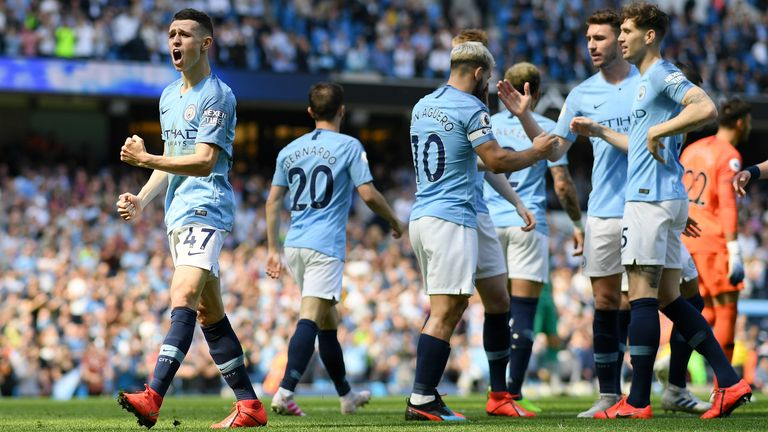 Highlights from Manchester City's win over Tottenham in the Premier League.