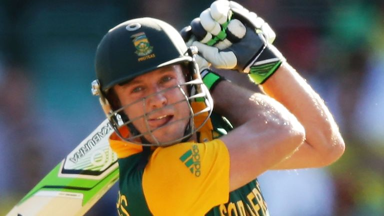 De Villiers smashed 17 fours and eight sixes against Windies