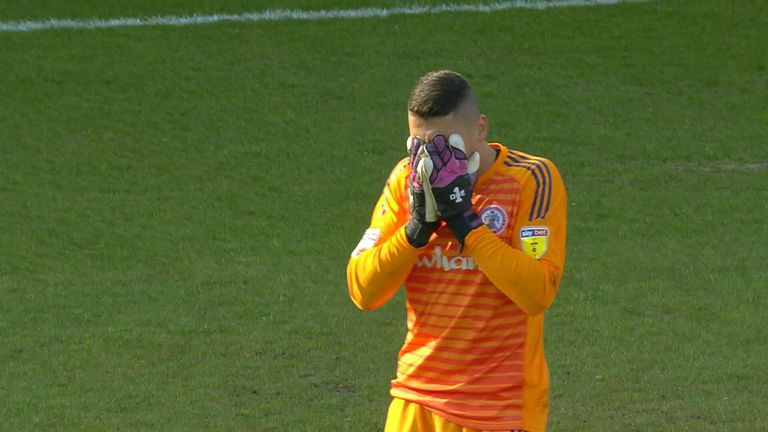 accrington goalkeeper dimitar emtimov sent off against luton