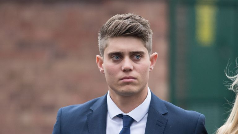 Alex Hepburn pictured outside Worcester Crown Court during his trial in April of last year