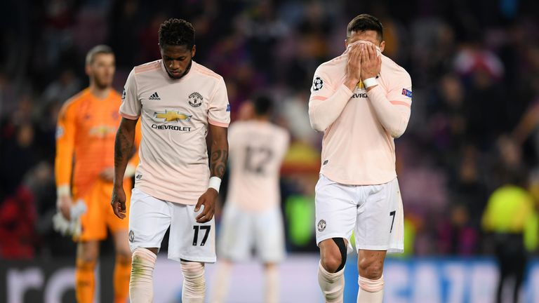 Fred and Alexis Sanchez reflect on Manchester United's defeat at Barcelona