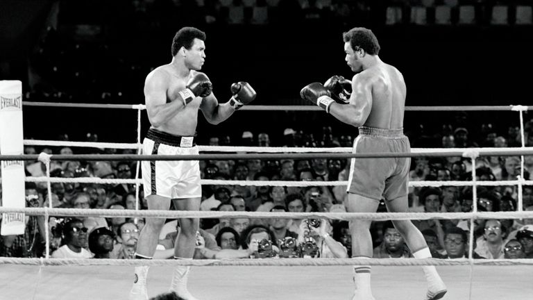 Muhammad Ali beat George Foreman in 1974 in the Rumble in the Jungle