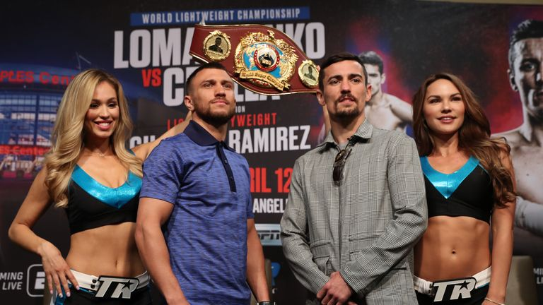 Lomachenko faces Crolla in the early hours of Saturday, live on Sky Sports