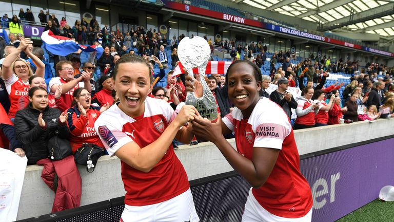 Arsenal Women seal Super League title with victory at Brighton
