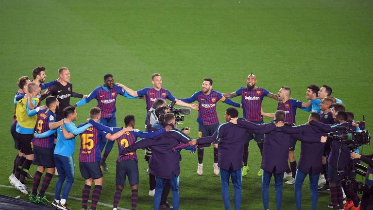 Barca face Liverpool in the first leg of their Champions League semi-final on Wednesday; kick-off 8pm