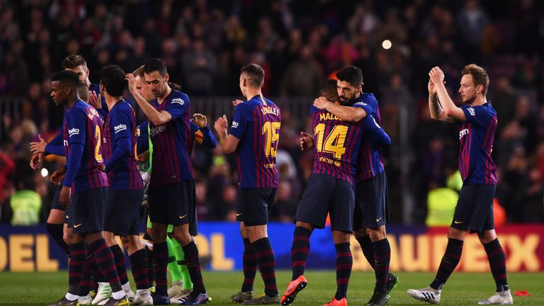 Barcelona moved 11 points clear of nearest rivals Ateltico Madrid in La Liga