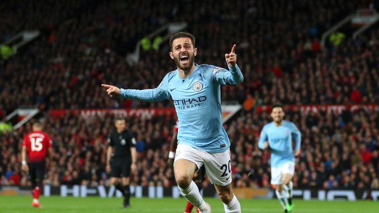 Bernardo Silva broke the deadlock at Old Trafford as City won 2-0 on Wednesday