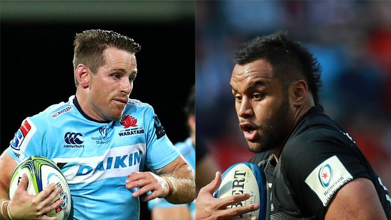 Waratahs' Bernard Foley, left, and Saracens' Billy Vunipola both feature in our Team of the Week