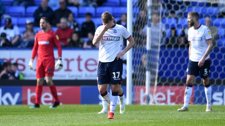 Bolton's will start the next season with a 12 point deduction in League One after going into administration