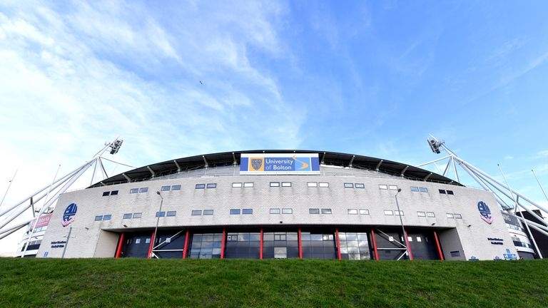 A general view of the University of Bolton Stadium prior to the Sky Bet Championship match between Bolton and Norwich