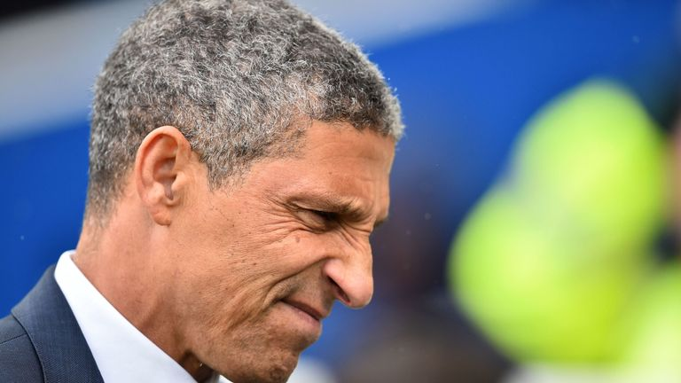 It was a tough afternoon for Chris Hughton and his Brighton side against Bournemouth