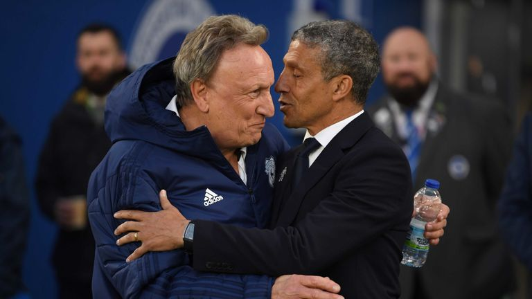Chris Hughton and Neil Warnock will battle it out to stay in Premier League