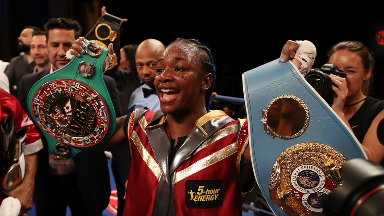 Claressa Shields has won world titles in two weight classes