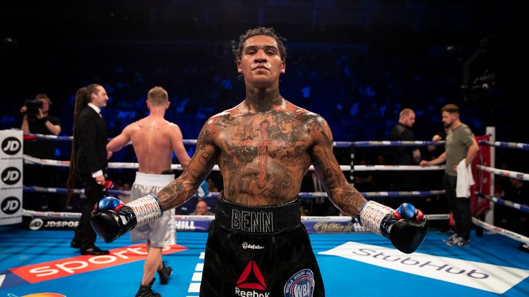 Conor Benn celebrates his points victory (Pic: Ian Walton/Matchroom Boxing )