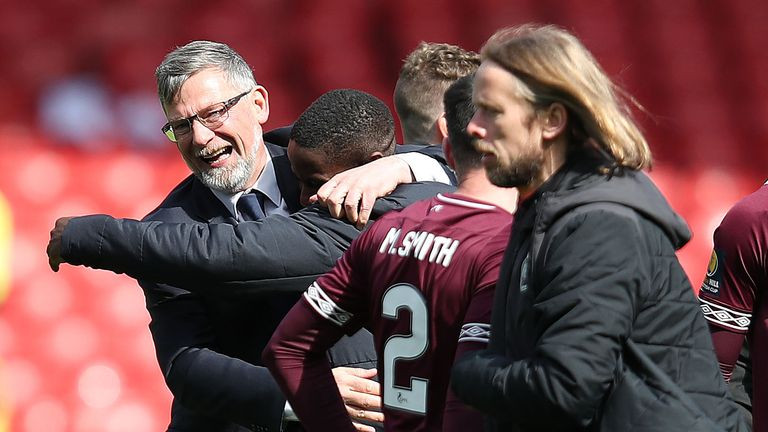 Craig Levein's side will play either Celtic or Aberdeen on May 25