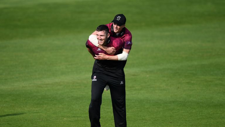 Craig Overton starred with bat and ball for Somerset