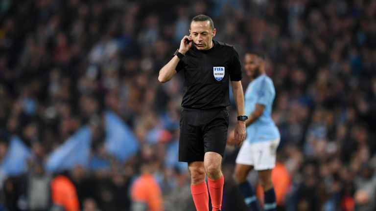 Turkish referee Cuneyt Cakir was at the centre of two key VAR decisions