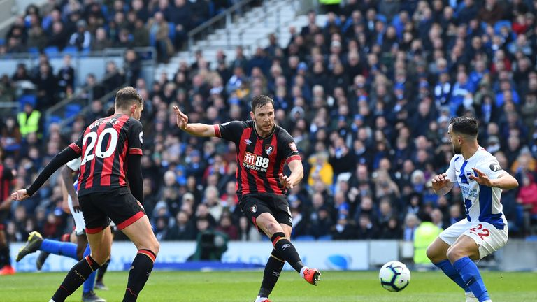 Dan Gosling gives Bournemouth the lead at the AMEX Stadium