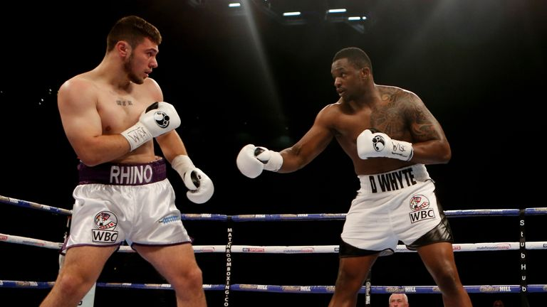 David Allen would prove his bravery in a points defeat to Dillian Whyte