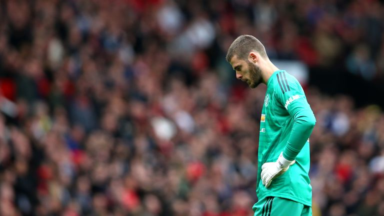 David de Gea during Manchester United vs Chelsea at Old Trafford