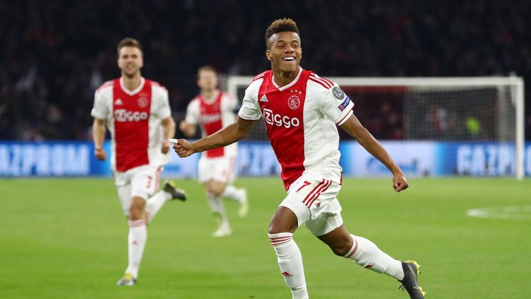 David Neres' goal 29 seconds after half-time cancelled out Cristiano Ronaldo's opener
