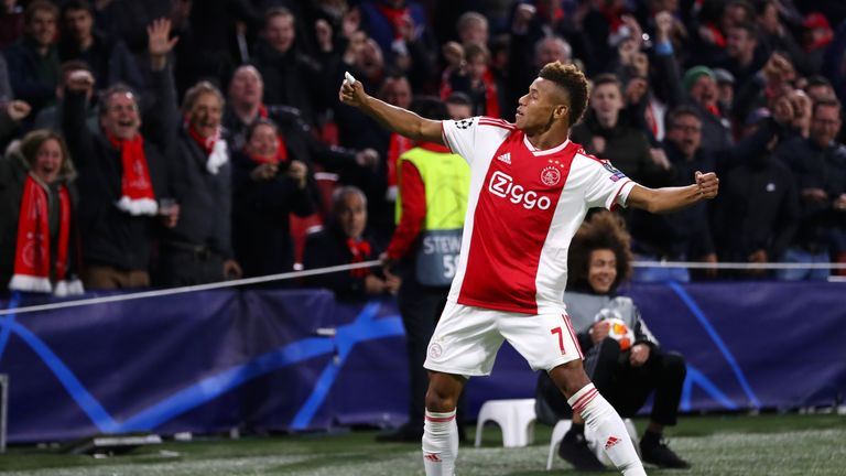 David Neres' goal was his seventh in his last eight Ajax games