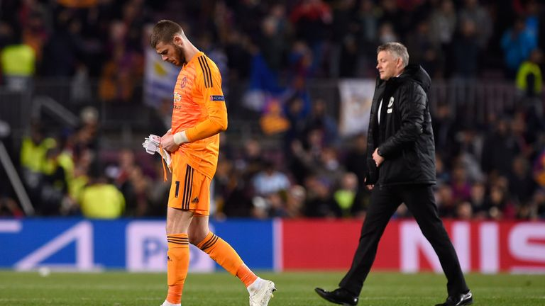 David de Gea's error gifted Barcelona their second goal at the Nou Camp