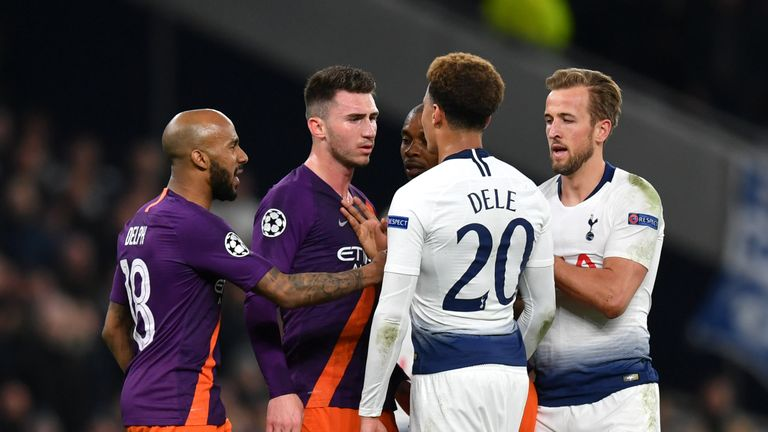 Kane and Dele Alli were both injured during a fierce encounter between Spurs and City