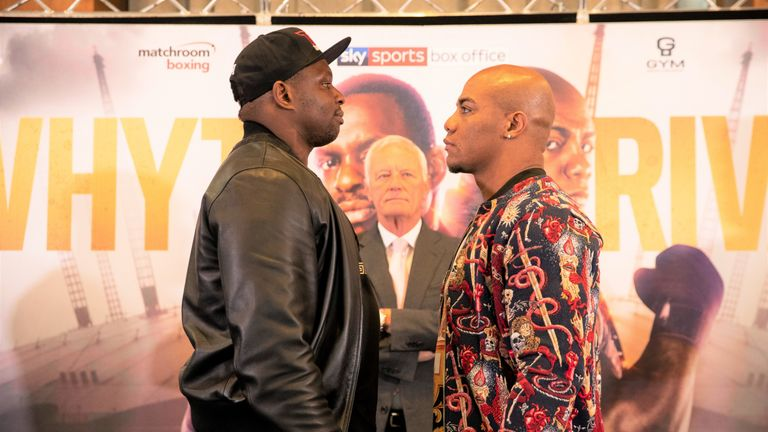 Dillian Whyte faces the dangerous Oscar Rivas at the top of O2 bill