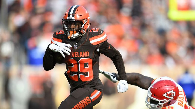 Duke Johnson arrives from the Cleveland Browns with a point to prove