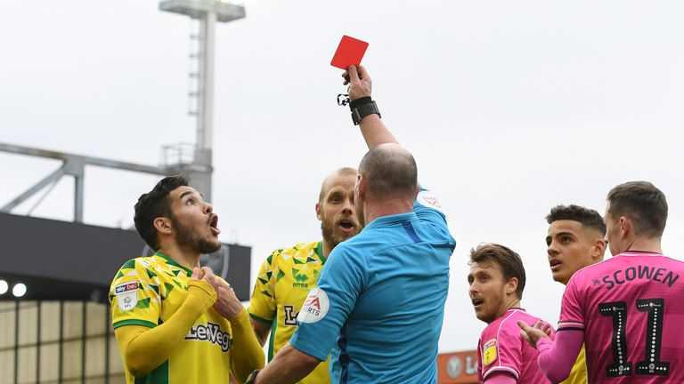 Buendia was shown a red card