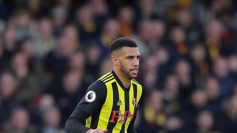 Etienne Capoue of Watford in action during the Premier League match between Watford FC and Newcastle United at Vicarage Road on December 29, 2018 in Watford, United Kingdom